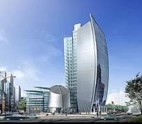 商务办公中心建筑设计方案效果图