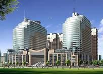 商业大楼设计效果图PSD素材