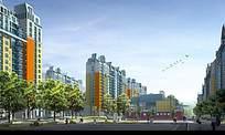 小区地产建筑广告效果图素材