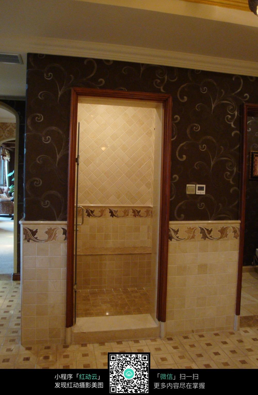玄关过道的瓷砖墙面装修图片高清图片