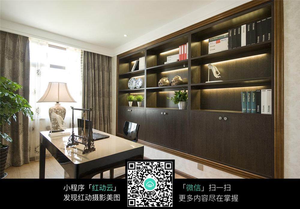 墙壁书柜效果图图片