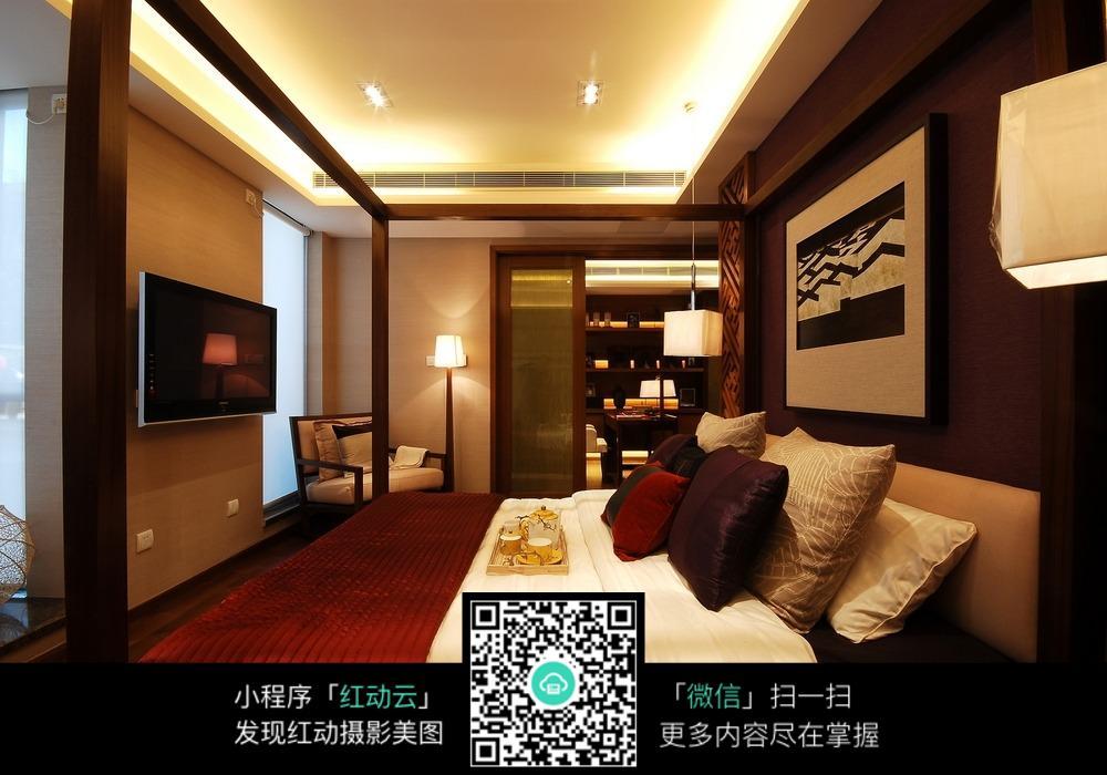 现代中式的卧室设计图片