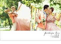 绚丽时尚婚纱照模板PSD