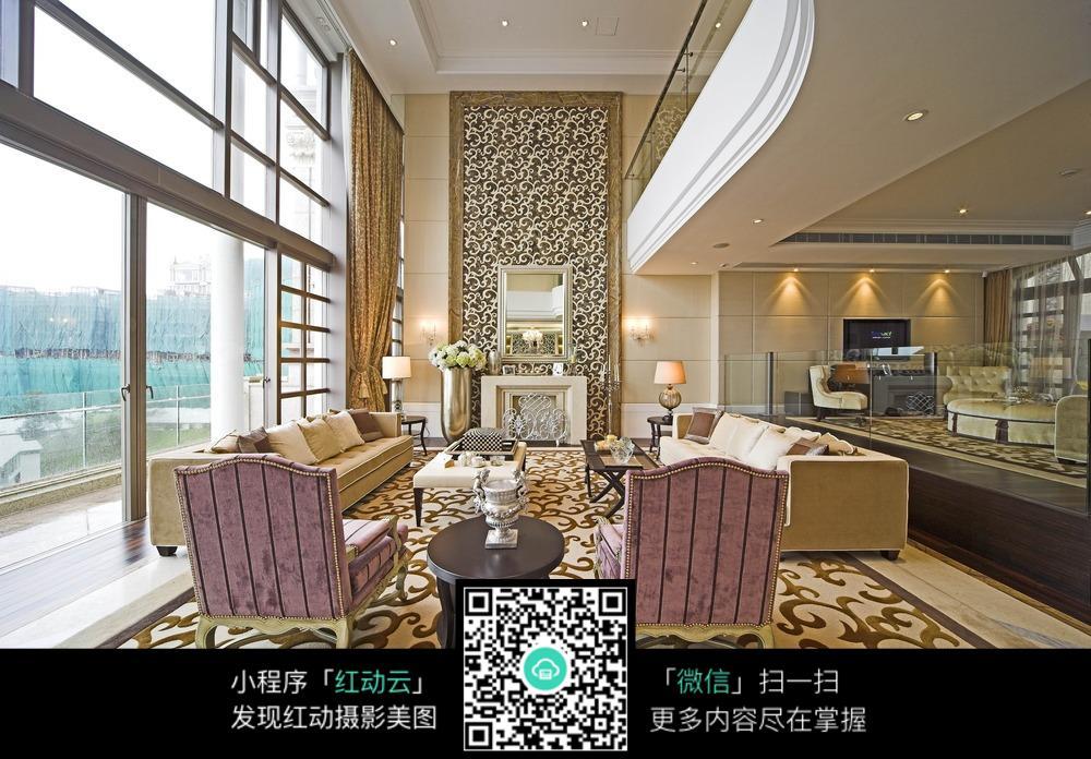 别墅大客厅装修设计图片
