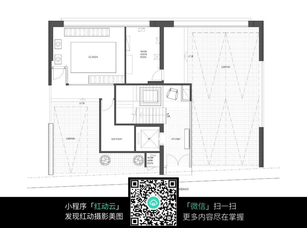 别墅地下室空间布局平面图图片