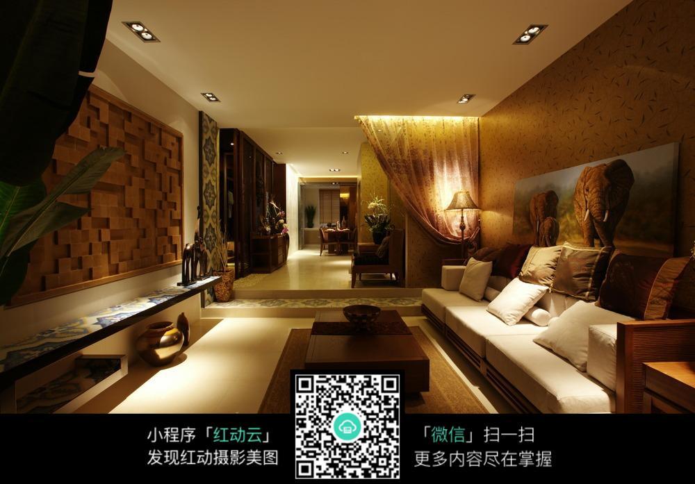 室内客厅灯光设计图图片