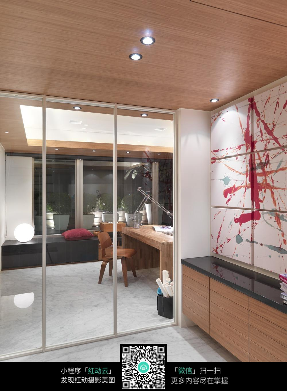 书房玻璃门设计效果图