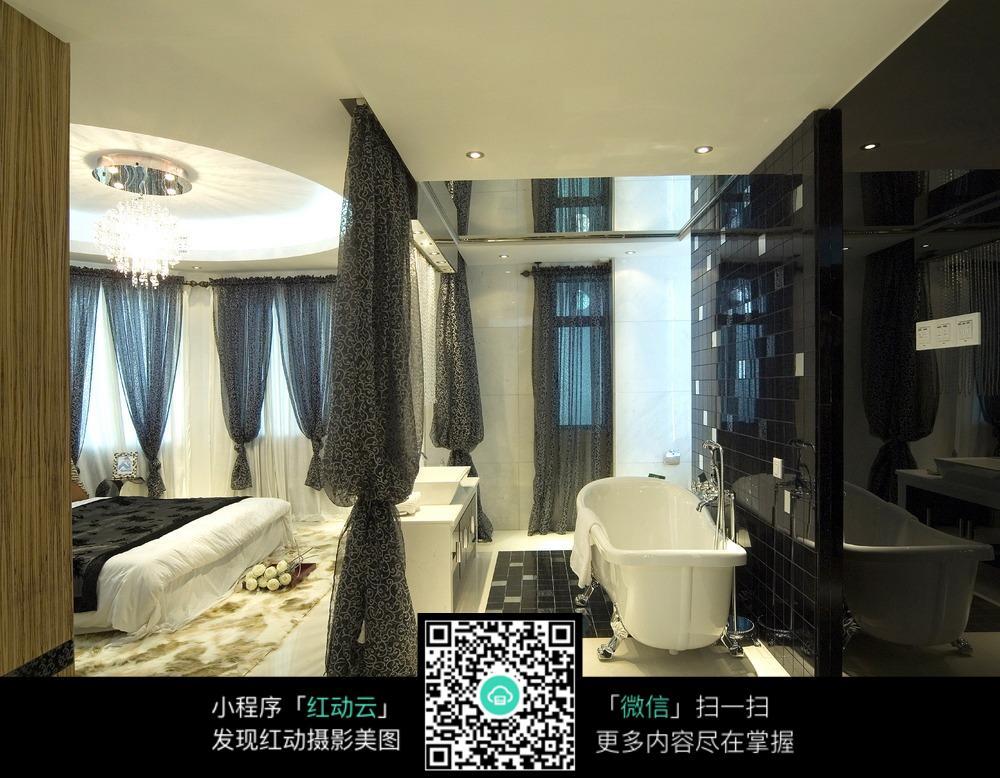 卧室与浴室一体装修设计图片