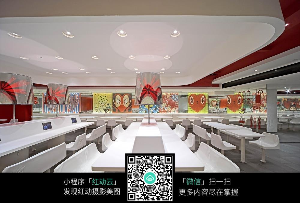 现代时尚创意食堂装修效果图
