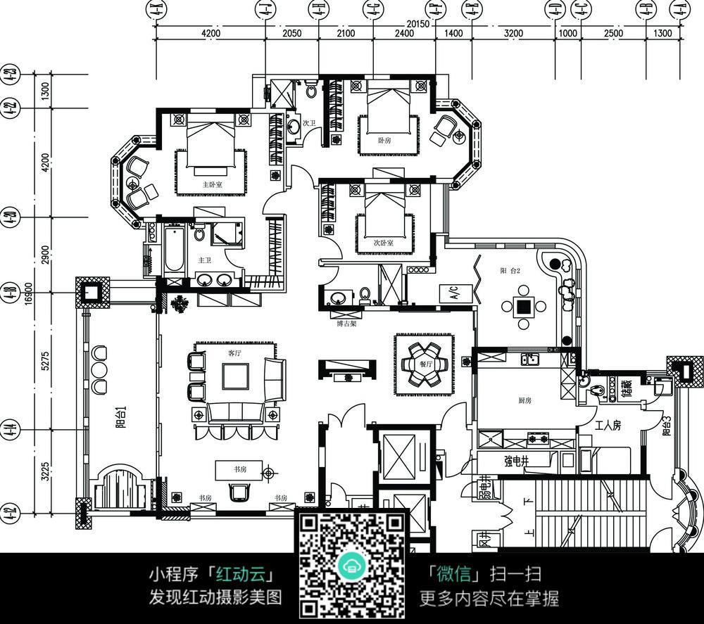 大户型楼房装修设计平面图