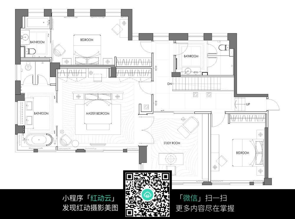 二层房间布局设计平面图图片_其他图片图片