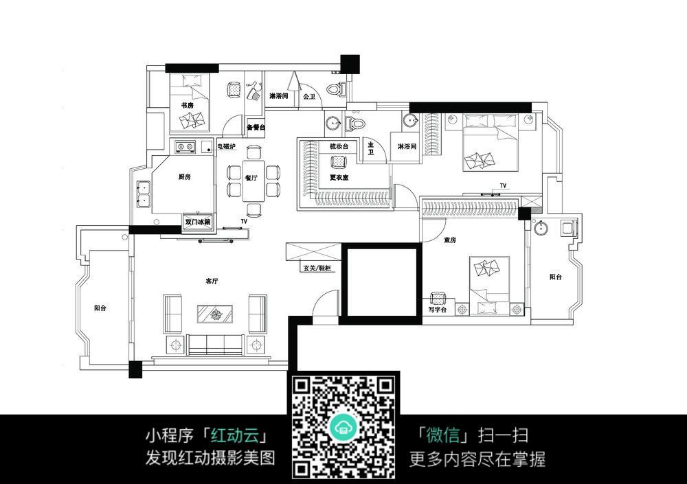 家居室内平面布置图