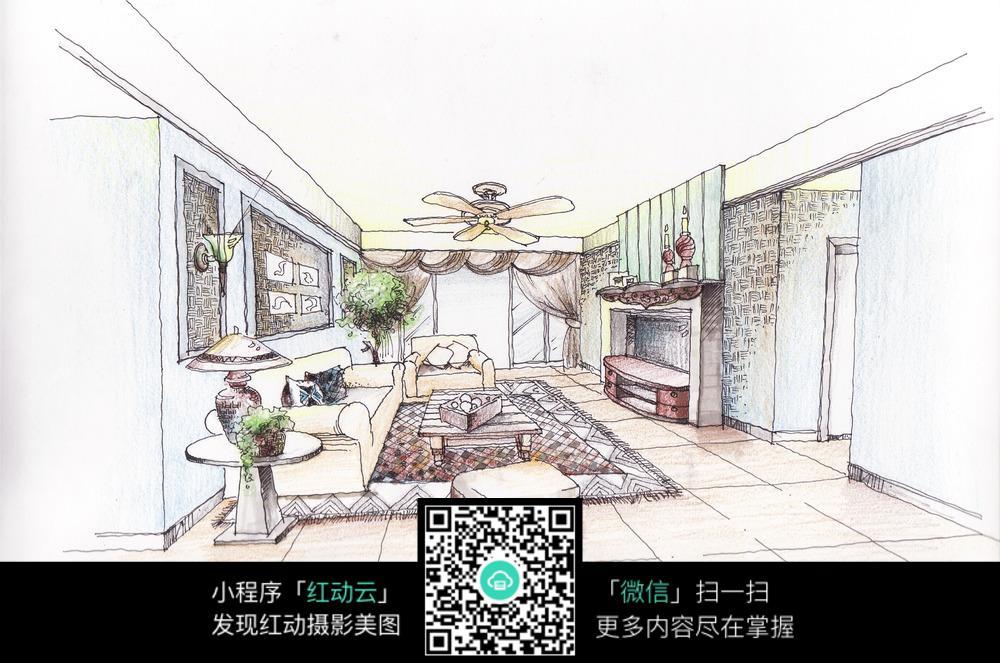 室内装修手绘图纸