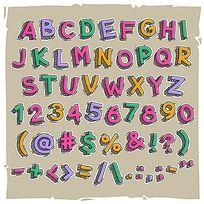 童趣粉笔线条字