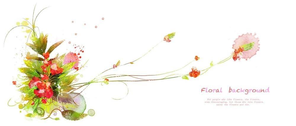 彩绘 花束背景