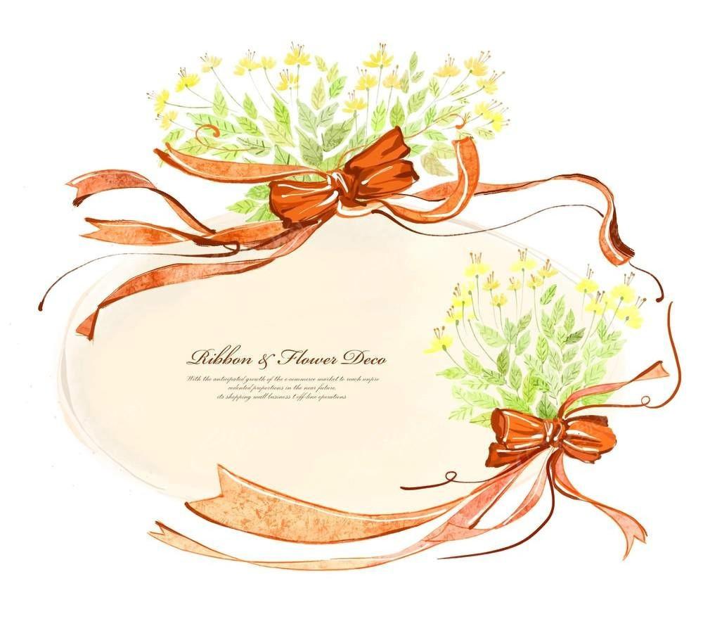 蝴蝶结花束背景素材