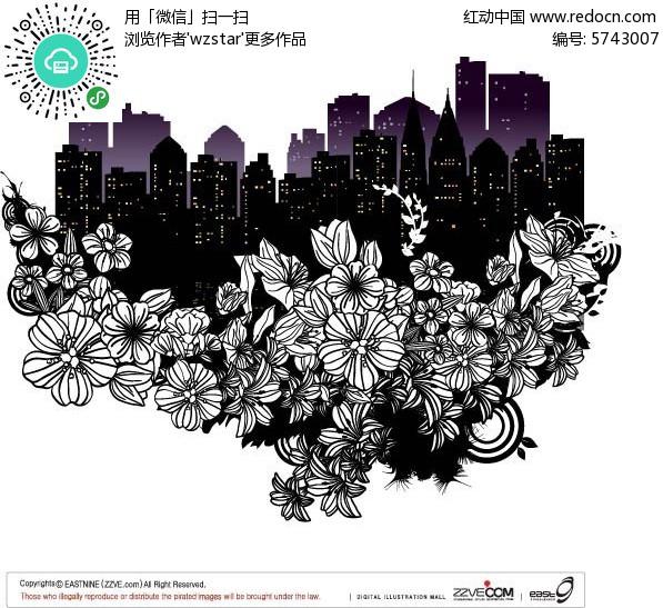 花纹边框 其他 城市图案手绘  请您分享: 红动网提供其他精美素材免费