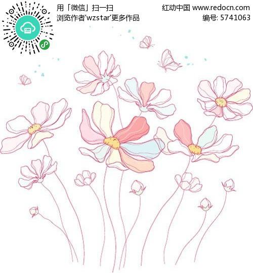 清新背景  背景素材  简约设计   手绘素材  设计素材  贺卡设计 封面