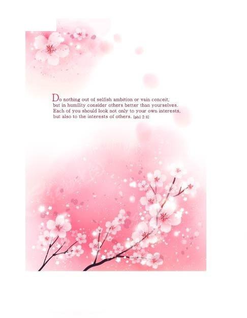 粉色梦幻的桃花背景素材
