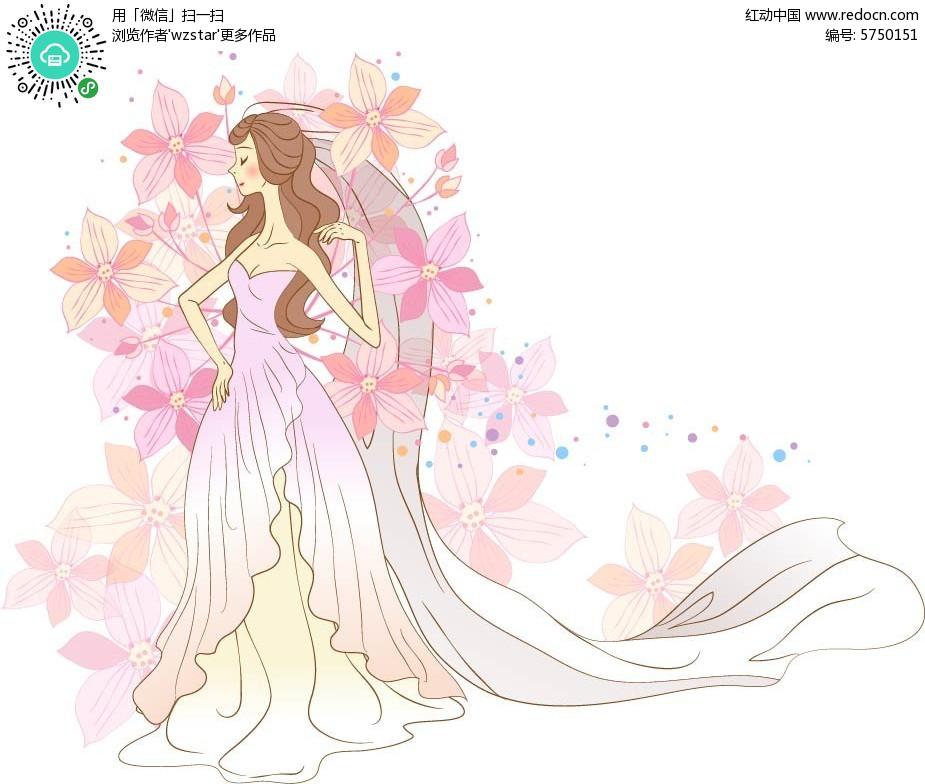 婚礼手绘插画设计
