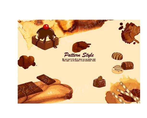甜品巧克力背景素材