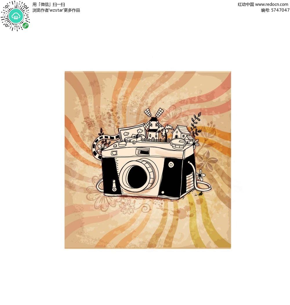 照相机创意手绘