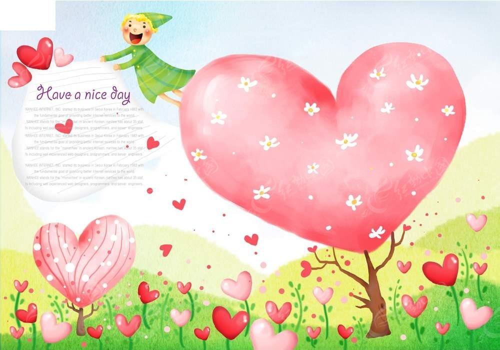 爱心儿童淡彩创意手绘psd免费下载_其他素材