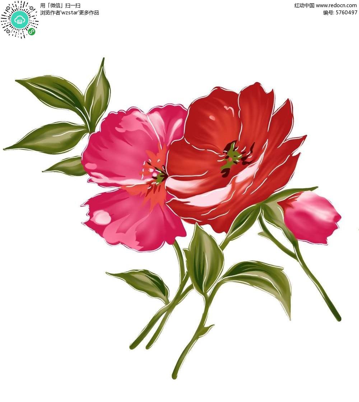 逼真精美花朵图案素材PSD免费下载