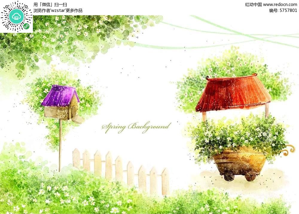 春天手绘插画
