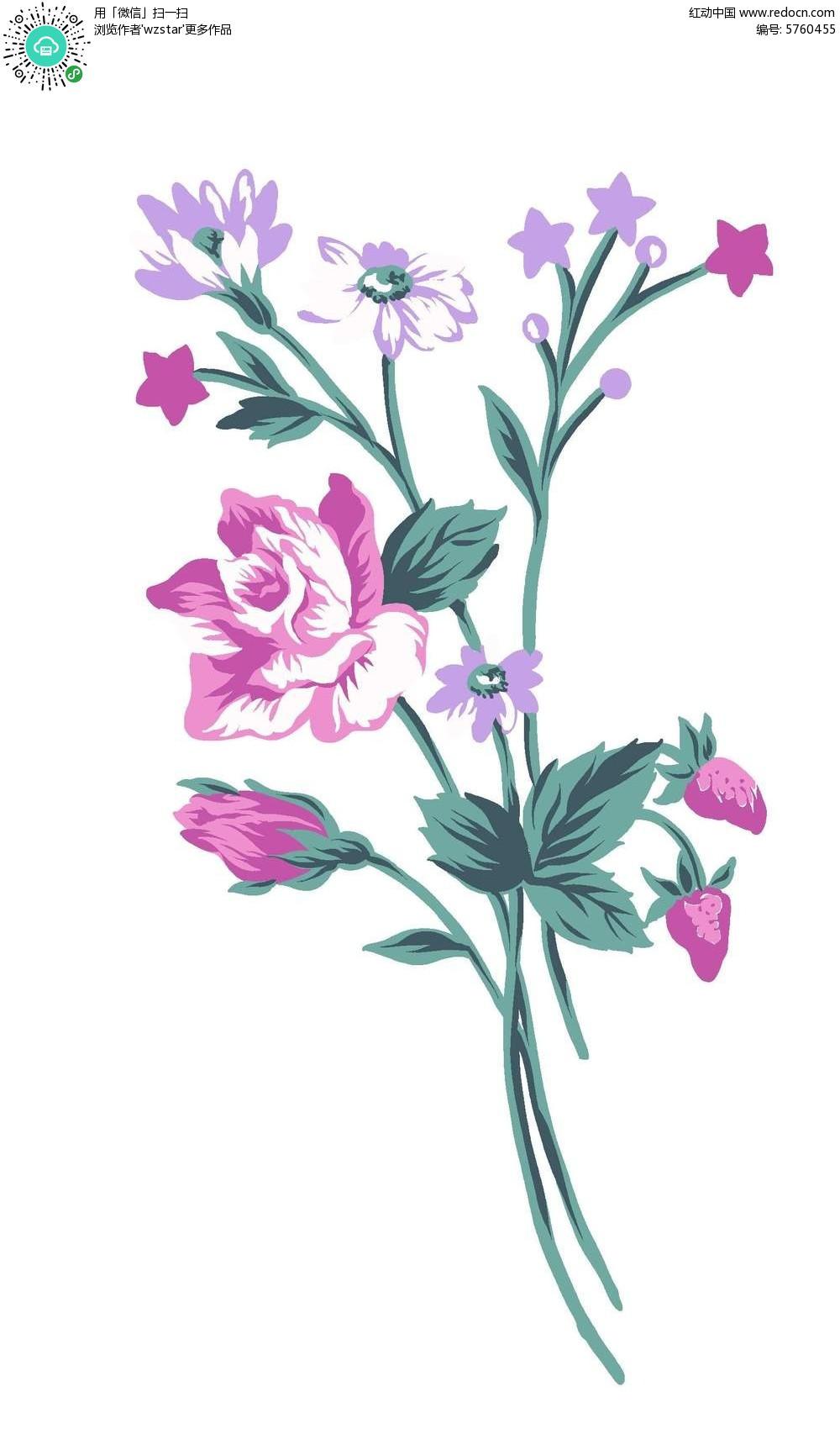 花朵手绘插画