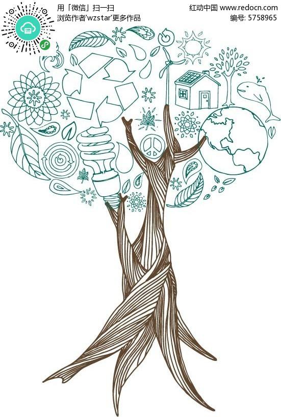 树的结构图解图片大全