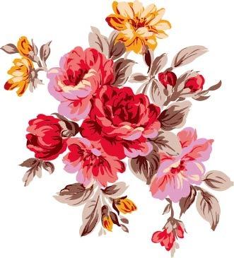 水彩手绘花卉插画素材