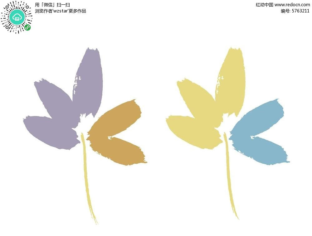 简笔画花朵psd分层素材免费下载 编号5763211 红动网