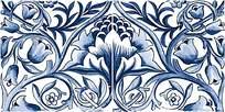 蓝色雕刻花纹图案背景素材