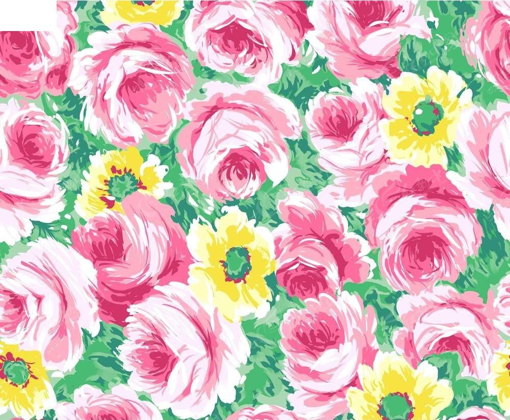 手绘粉红色花卉壁纸