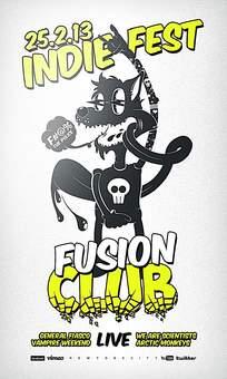 嘻哈朋克pop俱乐部海报设计