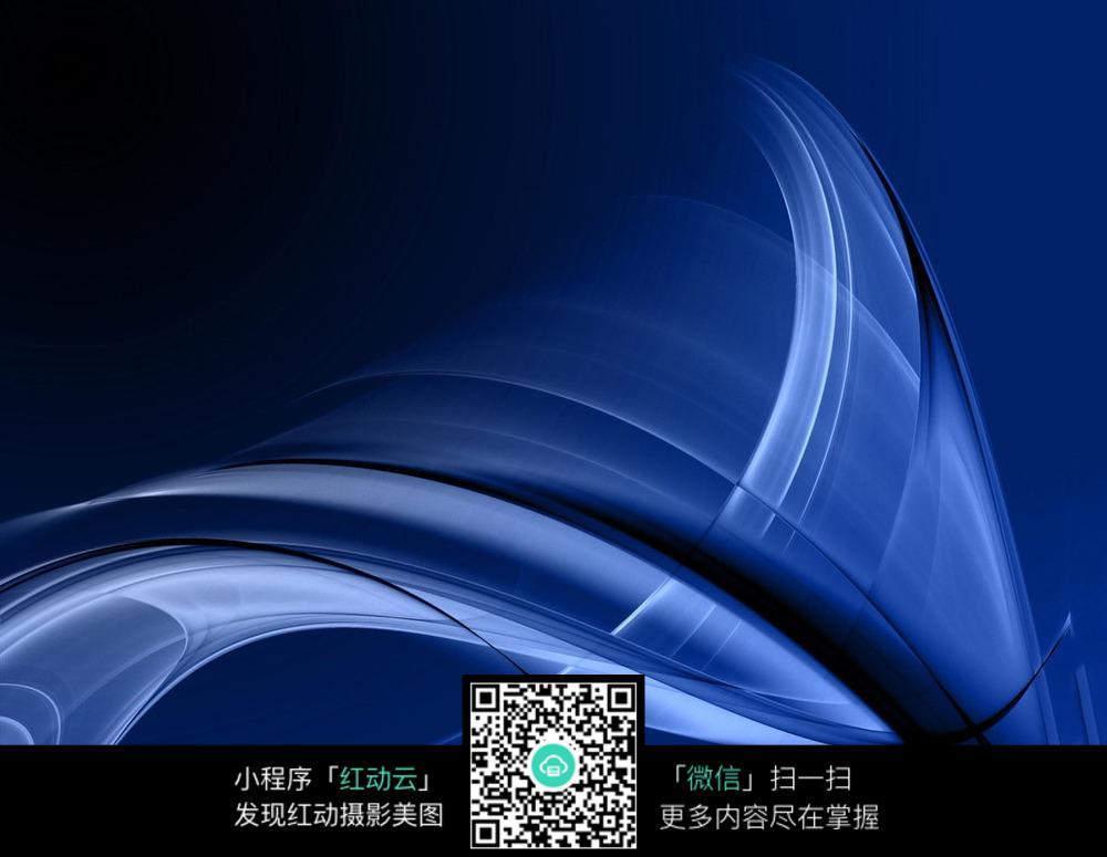 蓝色科幻光线图形模糊背景素材图片