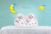 清新可爱的婴儿照模板设计