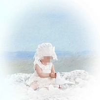 可爱纯美的儿童照设计