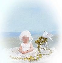 清新唯美的儿童照设计