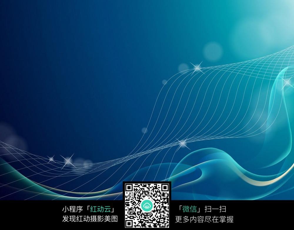 蓝色科技线条背景素材图片