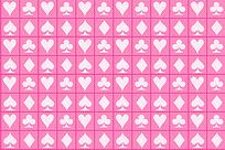 扑克牌图案矩形排列背景图片