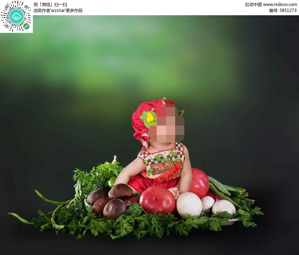 儿童手绘西红柿