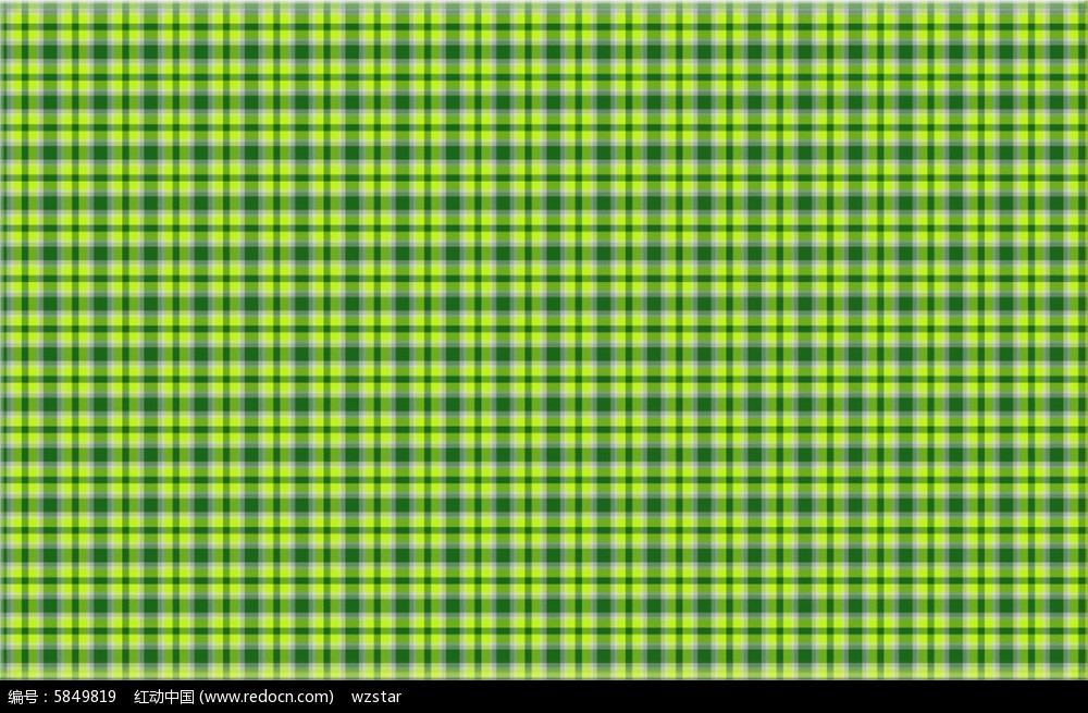 绿色搭配格子布纹印花图片