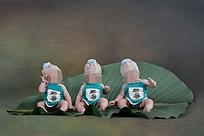 绿衣服的宝宝儿童摄影
