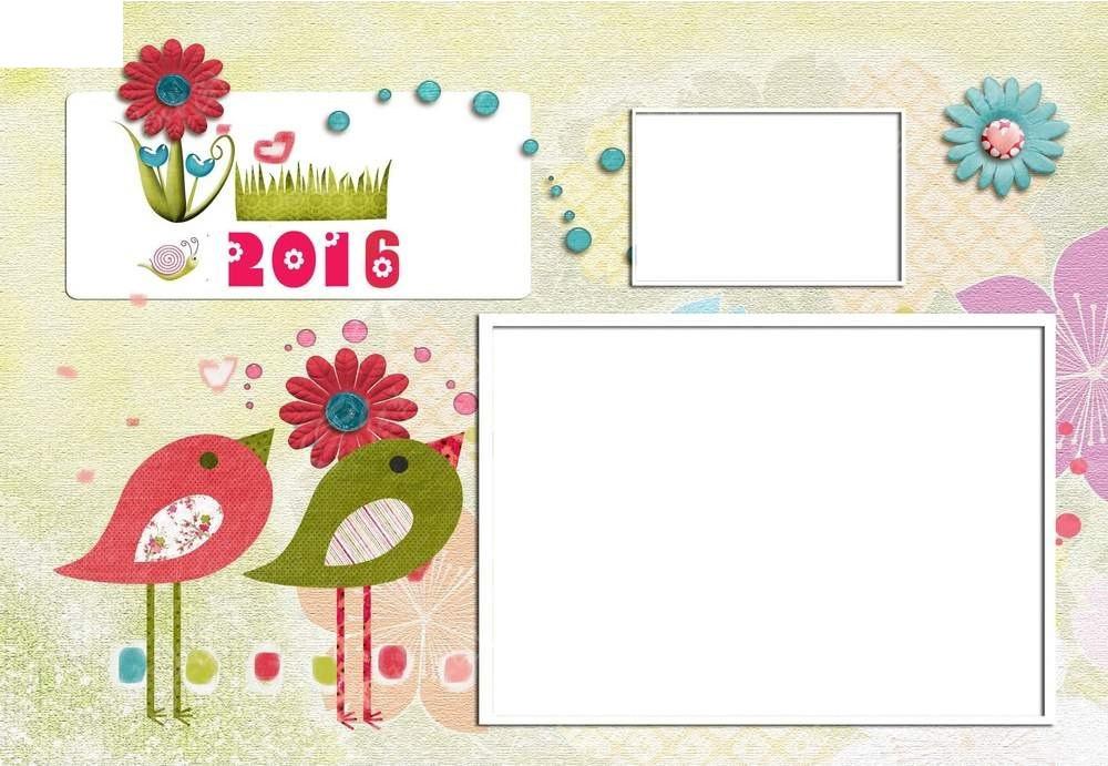 创意彩色图案日历设计