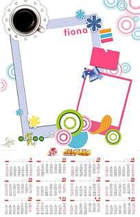 卡通彩绘日历设计