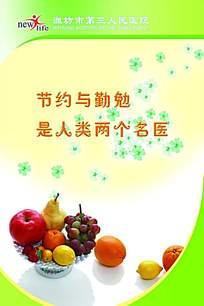 水果简约展板背景素材