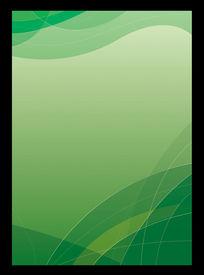 绿色优美线条矢量背景
