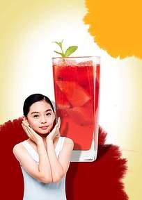 水果茶广告海报素材